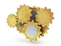 Euro coins as gear. Royalty Free Stock Images