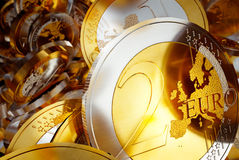Euro coins background illustration Royalty Free Stock Photo