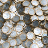 Euro Coins Background (Money Conceptual) Royalty Free Stock Photography
