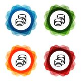 Euro Coins Bank Investment Icons. Eps10 Vector vector illustration