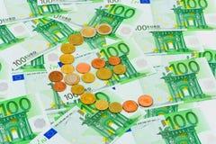 Euro coins and banknotes Stock Photos