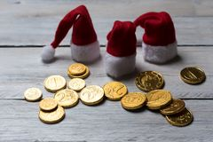 Money make Christmas royalty free stock photo