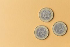 Euro coins close up Stock Image