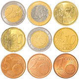 Euro coins collection Royalty Free Stock Photography