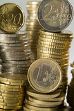 Euro coins column Royalty Free Stock Photos