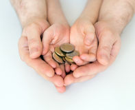 Euro coins. Royalty Free Stock Image
