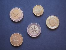 Euro currency coins Stock Photography
