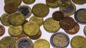 Euro coins. Currency of the European union royalty free stock photography