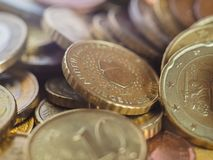 Euro coins, European Union royalty free stock image