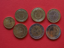 Euro coins, European Union Royalty Free Stock Photos