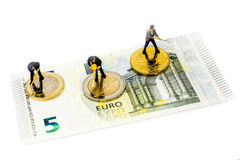 Euro Coins, Figure, Banknote Royalty Free Stock Images