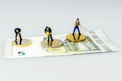 Euro Coins, Figure, Banknote Royalty Free Stock Photos