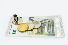 Euro Coins, Figure, Banknote Royalty Free Stock Photo