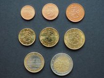 Euro coins from Finland Royalty Free Stock Photo