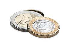 Euro coins(greek) Stock Photo