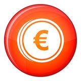Euro coins icon, flat style Royalty Free Stock Image