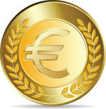 Euro coins  illustration Royalty Free Stock Images