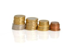 Euro coins Royalty Free Stock Photo