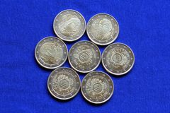 Euro Coins Issued in Finland Stock Photography