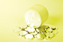 Euro coins. The many of euro coins Stock Photo