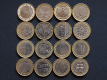 Euro coins of many countries Royalty Free Stock Photo