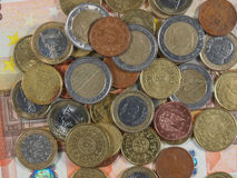 Euro coins and notes Stock Photography