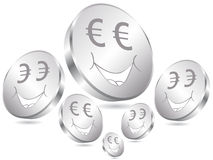 Euro coins poster Royalty Free Stock Photo
