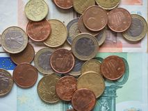 Euro coins released by different countries. Euro coins of different denomination EUR released by different countries Royalty Free Stock Images