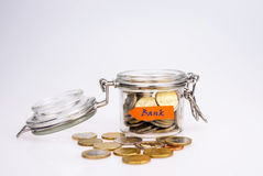 Euro coins - saving money Royalty Free Stock Image