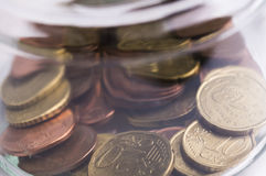 Euro coins savings Stock Photos