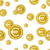 Euro coins seamless background. vector illustration. Royalty Free Stock Photos