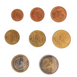 Euro coins series Royalty Free Stock Image