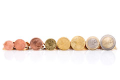 Euro coins set Royalty Free Stock Images