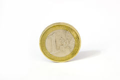 Euro Coins. Some euro coins in a white and infinite background stock photography