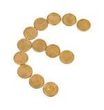 Euro coins symbol Royalty Free Stock Photos