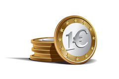 Euro coins vector illustration Stock Photography