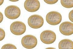 Euro coins. On a white background Royalty Free Stock Photos