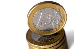 Euro coins pile Royalty Free Stock Image