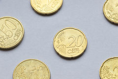 Euro  coins on white background Stock Photography
