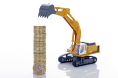 Free Euro Coins With Digger Royalty Free Stock Photos - 28931218