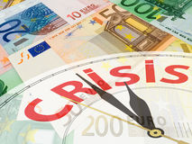 Euro collage de devise Images libres de droits