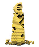 Euro column brick Stock Photo