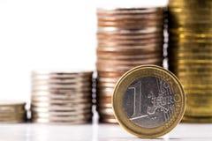 Euro com rublos de russo Foto de Stock Royalty Free