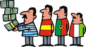1 euro come simbolo di crisi Immagine Stock Libera da Diritti