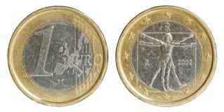 Euro complemento ed inverso della moneta con il percorso Immagini Stock Libere da Diritti