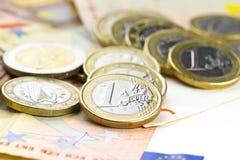 Euro composition d'argent Photo stock