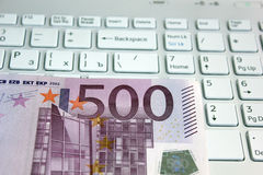 Euro and computer Stock Photography