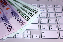 Euro and computer Stock Image