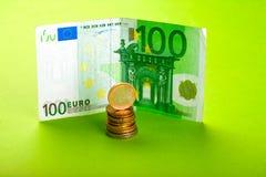 Euro con le monete Fotografia Stock Libera da Diritti