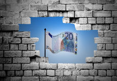 Euro concept Royalty-vrije Stock Fotografie